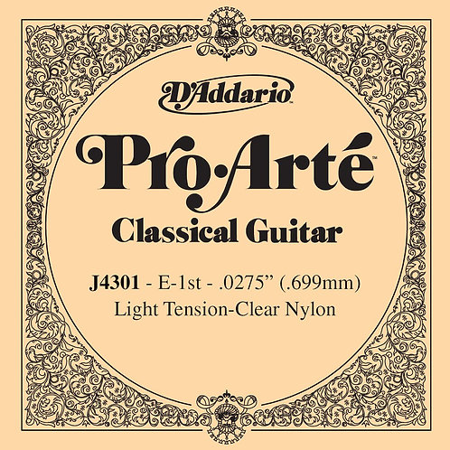 D'Addario J4301 Pro-Arte Nylon Classical Guitar SGL String Light Tension First S