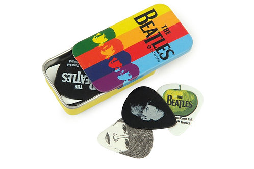 D'Addario Beatles Signature Guitar Pick Tins Stripes