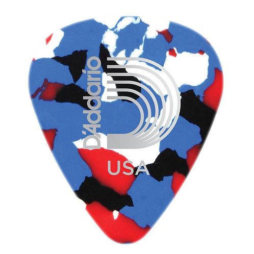 D'Addario Multi-Color Celluloid Guitar Picks 100 pack Med