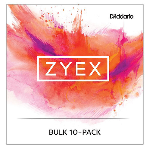 D'Addario Zyex Viola SGL A String Short Scale Med Tension Bulk 10-Pack