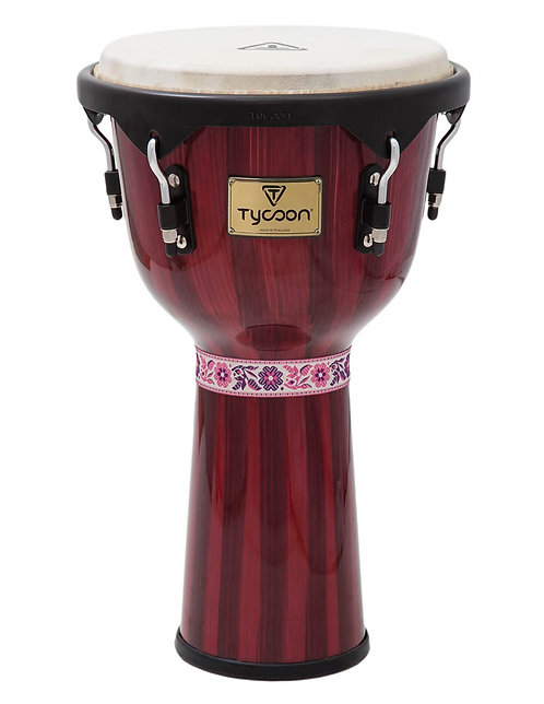 Artist Series Hand-Painted Red Finish Djembe