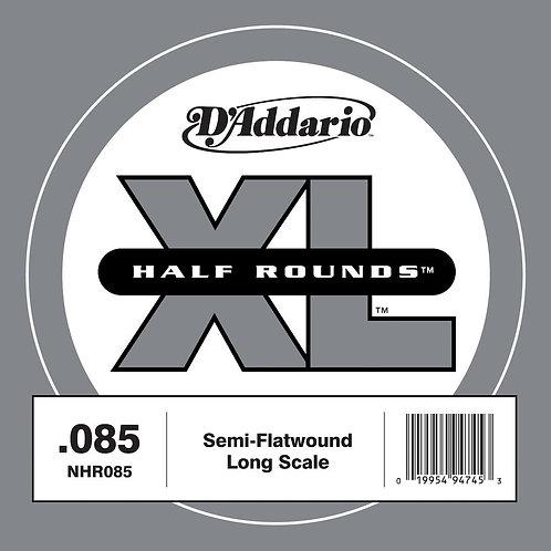 D'Addario NHR085 Half Round Bass Guitar SGL String Long Scale .085