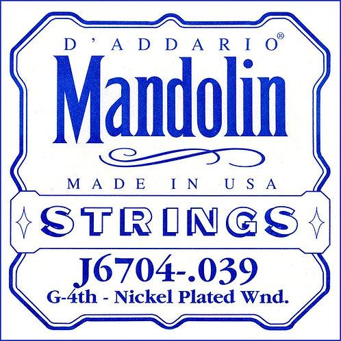 D'Addario J6704 Nickel Mandolin SGL String .039