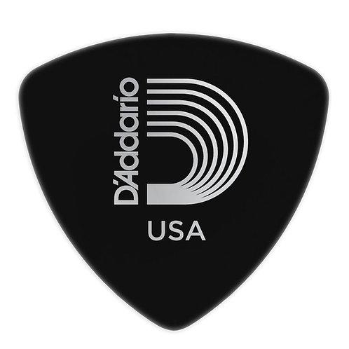 D'Addario Black Celluloid Guitar Picks 25 pack Hvy Wide Shape