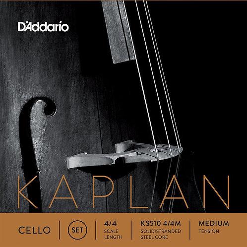 D'Addario Kaplan Cello String Set 4/4 Scale Med Tension