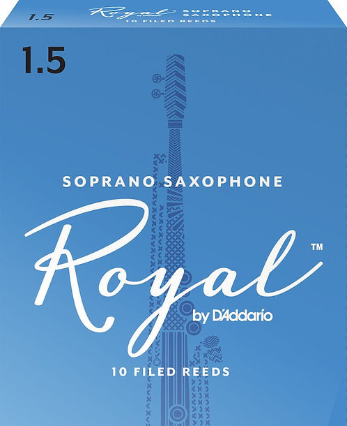 Royal by D'Addario Soprano Sax Reeds Strength 1.5 10-pack