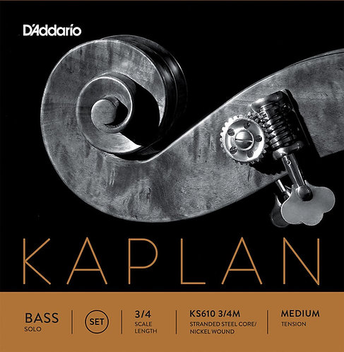 D'Addario Kaplan Solo Double Bass String Set 3/4 Scale Med Tension