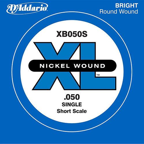 D'Addario XB050S Nickel Wound Bass Guitar SGL String Long Scale .050