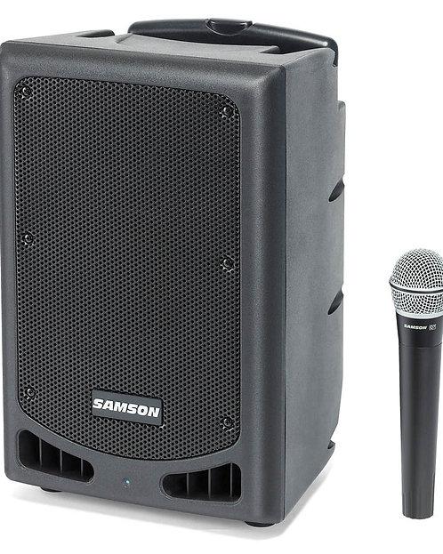 "Samson Xp108w Portable Pa 8""; 200 Watts Bluetooth, Wireless Hh Mic Channel 7"