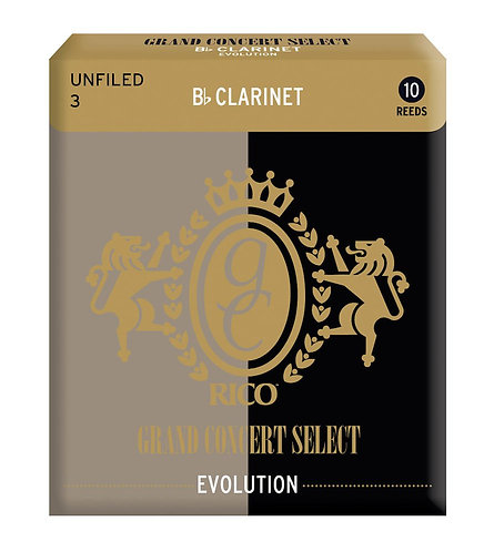 Rico Grand Concert Select Evolution Bb Clarinet Reeds Strength 3.0 10 Pack