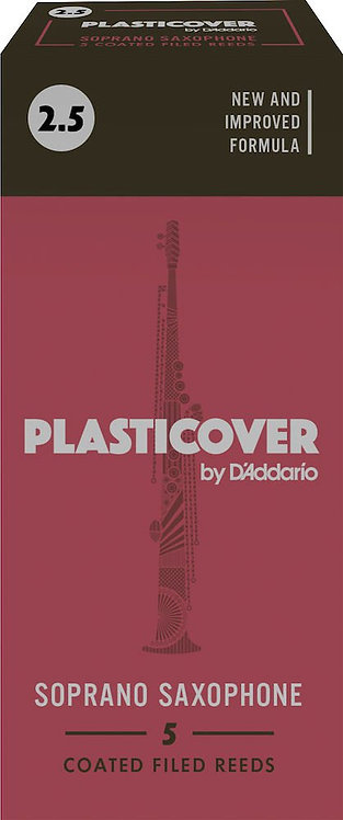 Plasticover by D'Addario Soprano Sax Reeds Strength 2.5 5-pack