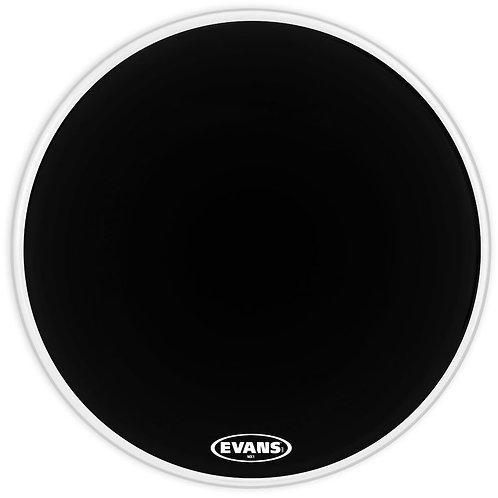 Evans MX1 Black Marching Bass Drum Head 18 Inch. Bulk-5 Pack.