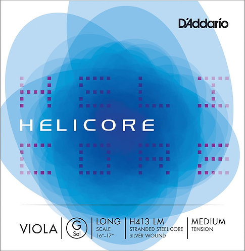 D'Addario Helicore Viola SGL G String Long Scale Med Tension