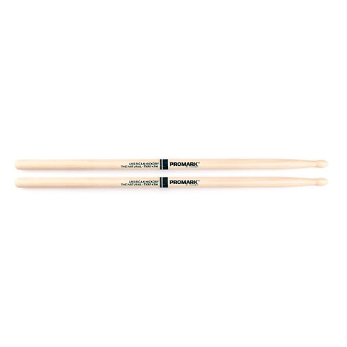 """Promark Hickory 747 """"The Natural"""" Wood Tip drumstick"""