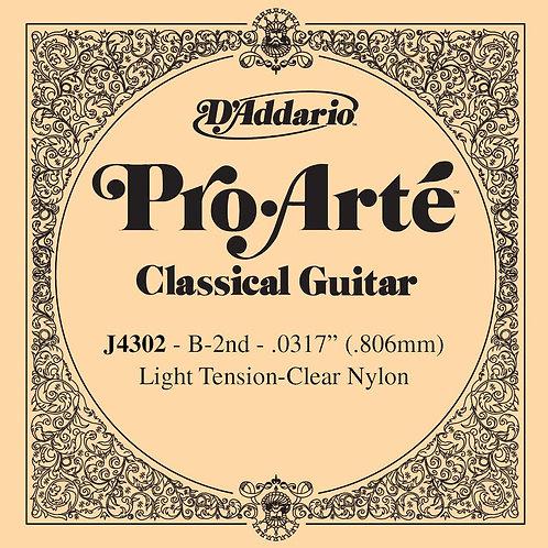 D'Addario J4302 Pro-Arte Nylon Classical Guitar SGL String Light Tension Second
