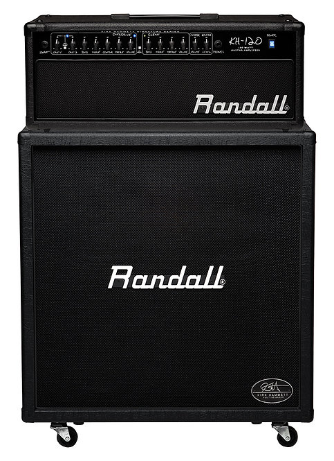 Randall 120W HEAD + 412 CAB SINGLE BOXKIRK HAMMETT STACK