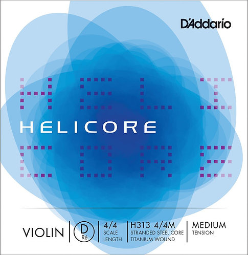D'Addario Helicore Violin SGL D String 4/4 Scale Med Tension