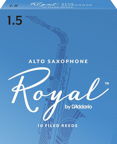 Royal by D'Addario Alto Sax Reeds Strength 1.5 10-pack
