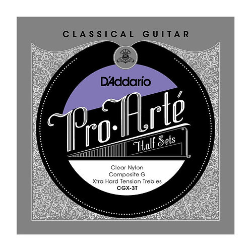 D'Addario CGX-3T Pro-Arte Clear Nylon w/ Composite G Classical Guitar Half Set