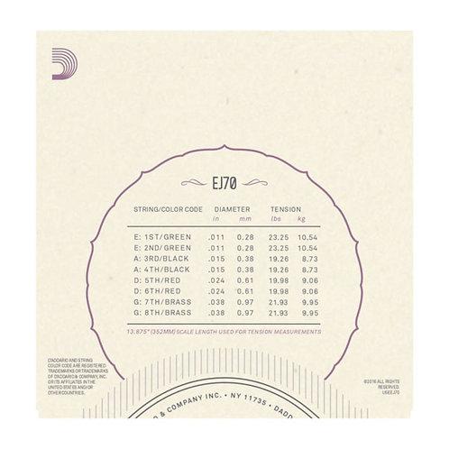 D'Addario EJ70 Phosphor Bronze Mandolin Strings Ball End  Med/Light 11-38