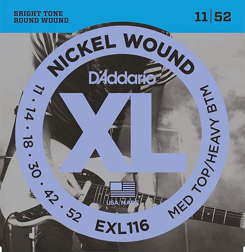 D'Addario EXL116 Nickel Wound Electric Guitar Strings Med Top/Hvy BTM 11-52