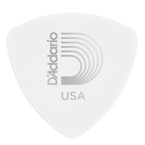 D'Addario White Celluloid Guitar Picks 100 pack Light Wide Shape