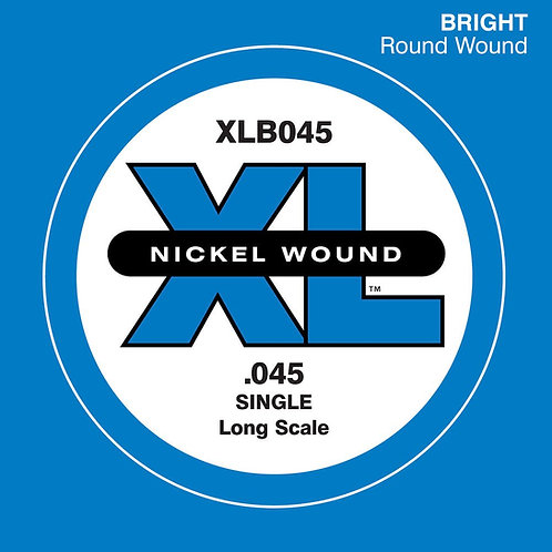 D'Addario XLB045 Nickel Wound Bass Guitar SGL String Long Scale .045