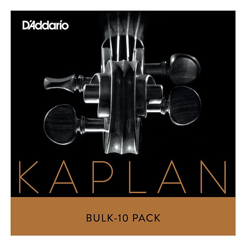 D'Addario Kaplan Vivo Violin String Set  4/4 Scale Med Tension Bulk 10-Pack