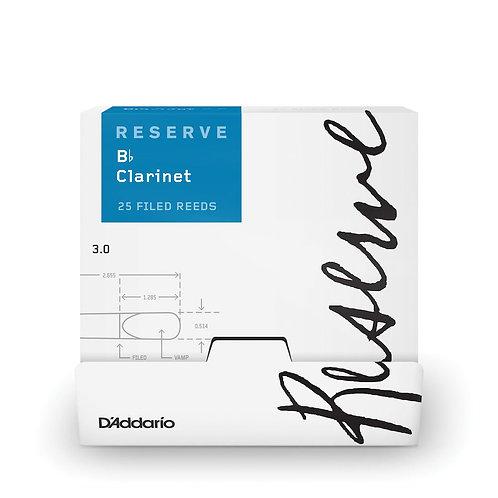 D'Addario Reserve Bb Clarinet Reeds Strength 3.0 25-box