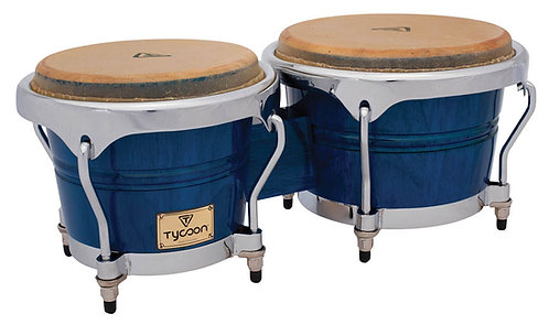 Concerto Series Blue Finish Bongos