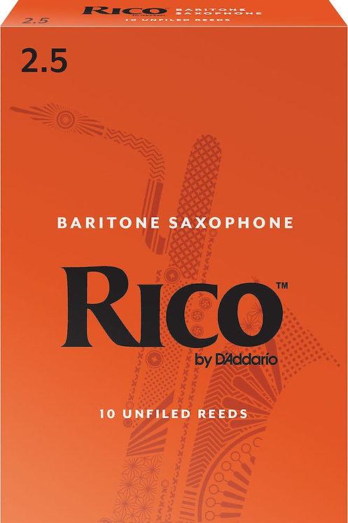Rico by D'Addario Baritone Sax Reeds Strength 2.5 10-pack