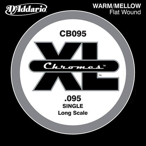 D'Addario CB095 Chromes Bass Guitar SGL String Long Scale .095