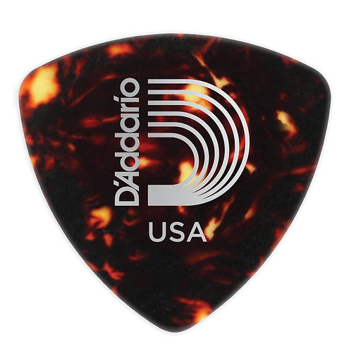 D'Addario Shell-Color Celluloid Guitar Picks 100 pack Med Wide Shape