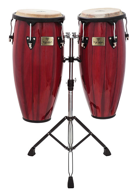 Artist Hand-Painted Series Red Congas