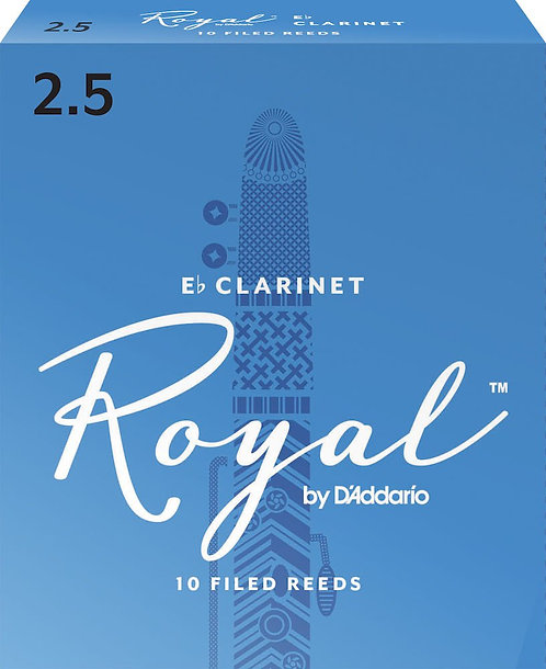 Royal by D'Addario Eb Clarinet Reeds Strength 2.5 10-pack