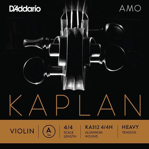 D'Addario Kaplan Amo Violin A String 4/4 Scale Hvy Tension