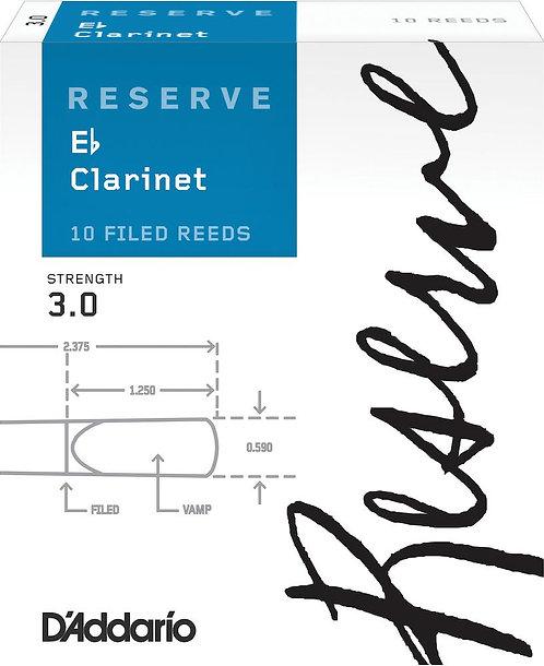 D'Addario Reserve Eb Clarinet Reeds Strength 3.0 10-pack