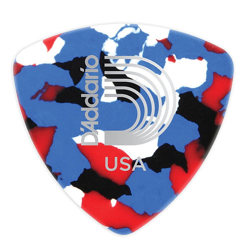 D'Addario Multi-Color Celluloid Guitar Picks 100 pack Light Wide Shape