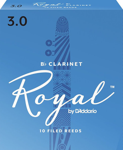 Royal by D'Addario Bb Clarinet Reeds Strength 3 10-pack