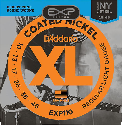 D'Addario EXP110 Coated Electric Guitar Strings Light 10-46