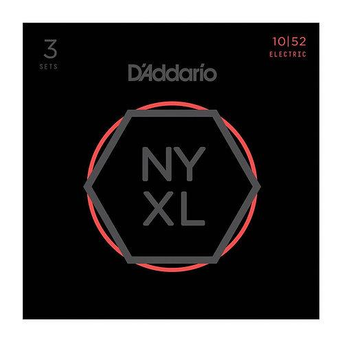 D'Addario NYXL1052-3P Nickel Wound Electric Guitar Strings Light Top / Hvy BTM 1