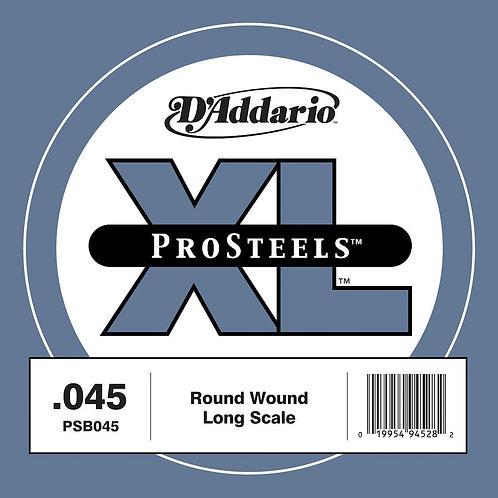 D'Addario PSB045 ProSteels Bass Guitar SGL String Long Scale .045