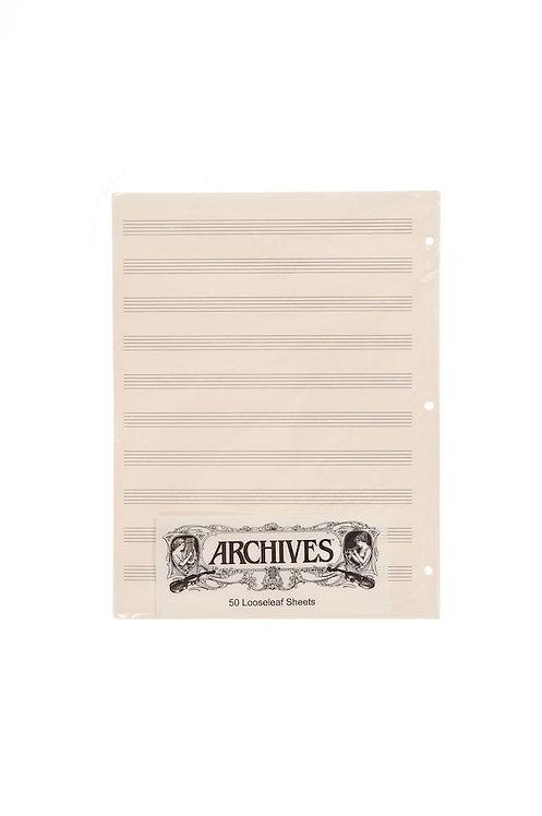 Archives Looseleaf Manuscript Paper  10 Stave 50 Pages