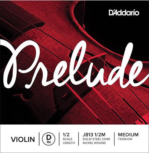 D'Addario Prelude Violin SGL D String 1/2 Scale Med Tension