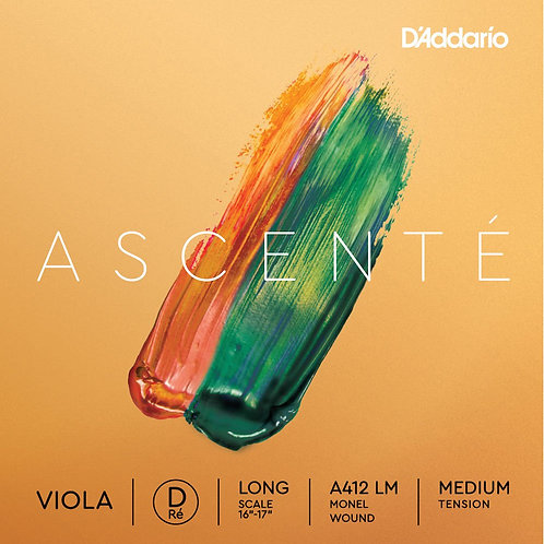 D'Addario Ascent Viola D String Long Scale Med Tension