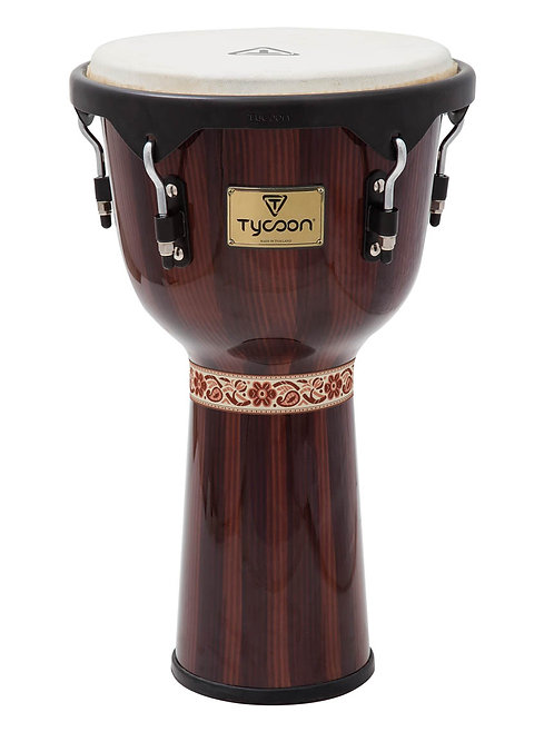 Artist Series Hand-Painted Brown Finish Djembe