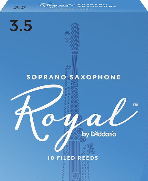 Royal by D'Addario Soprano Sax Reeds Strength 3.5 10-pack