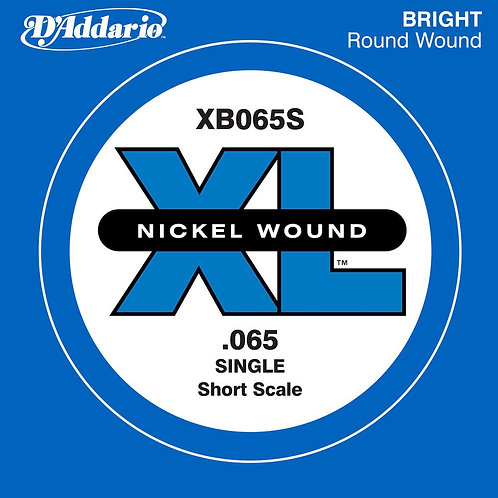 D'Addario XB065S Nickel Wound Bass Guitar SGL String Long Scale .065