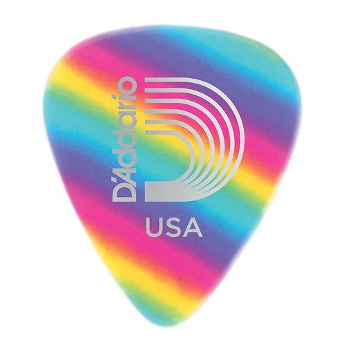D'Addario Rainbow Celluloid Guitar Picks 25 pack Light