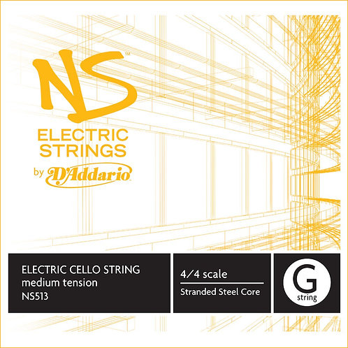 D'Addario NS Electric Cello SGL G String 4/4 Scale Med Tension